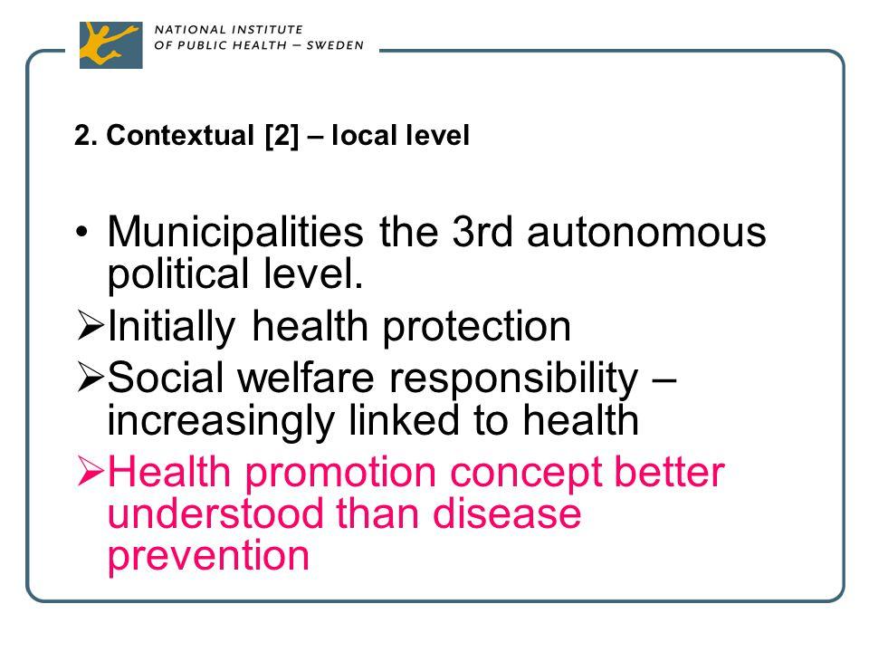 2. Contextual [2] – local level